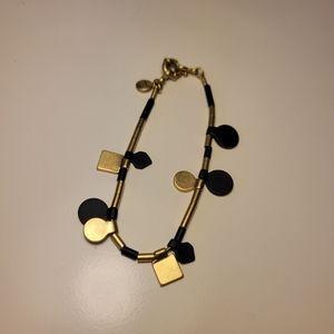 Madewell bracelet gold and navy geometric